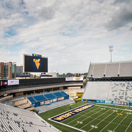 university scoreboard football stadium